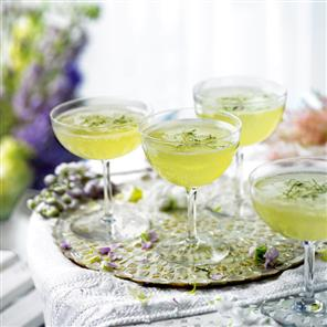 mint shampagne cocktail
