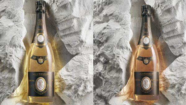 Cristal Champagne Bottles
