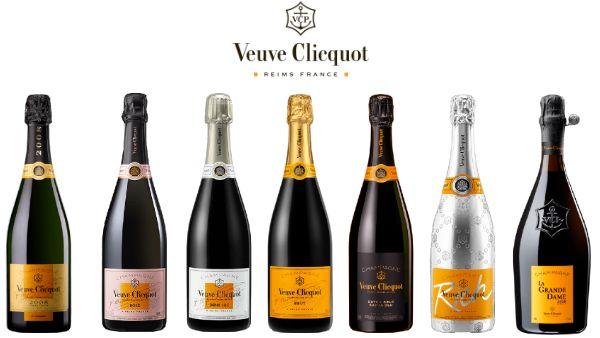 Veuve Clicquot Ponsardin Champagnes