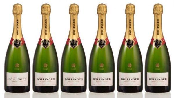 Bollinger Champagne Bottles