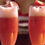 Strawberry Bellini Champagne Cocktail Recipe