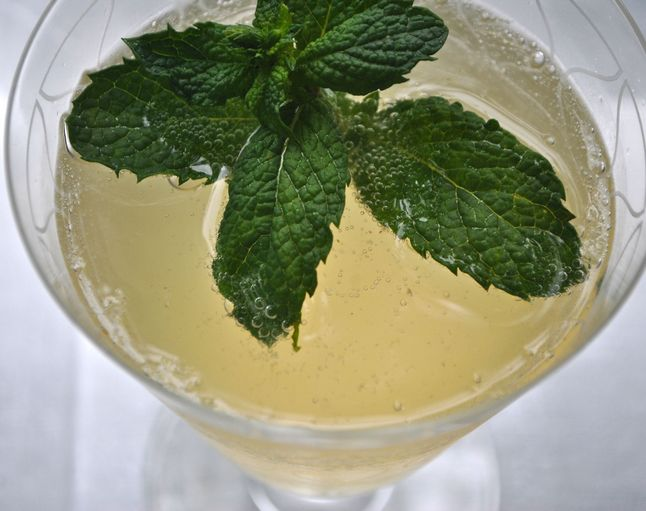 mint champagne cocktail recipe