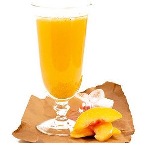 Frozen Peach Bellini Champagne Cocktail Recipe