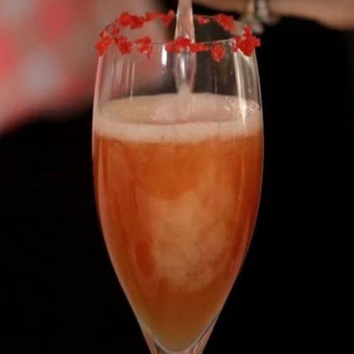 Acceptance Peach Champagne Cocktail