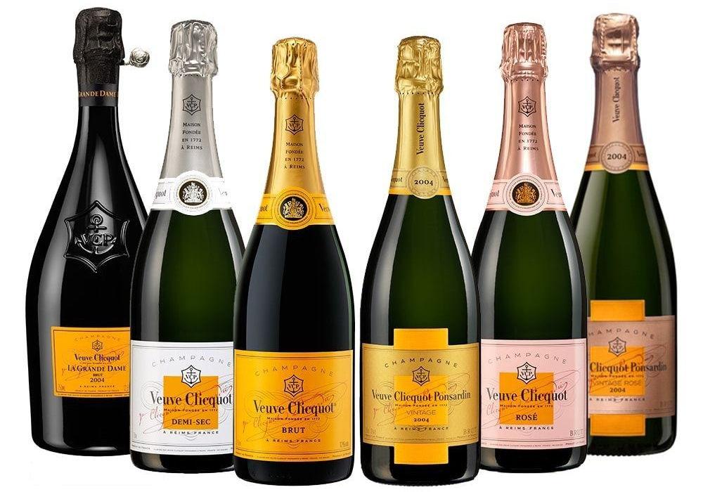 Veuve Clicquot Champagne Bottles