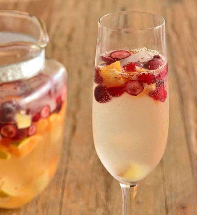 """Sparkling Sangria"" Champagne Cocktail"
